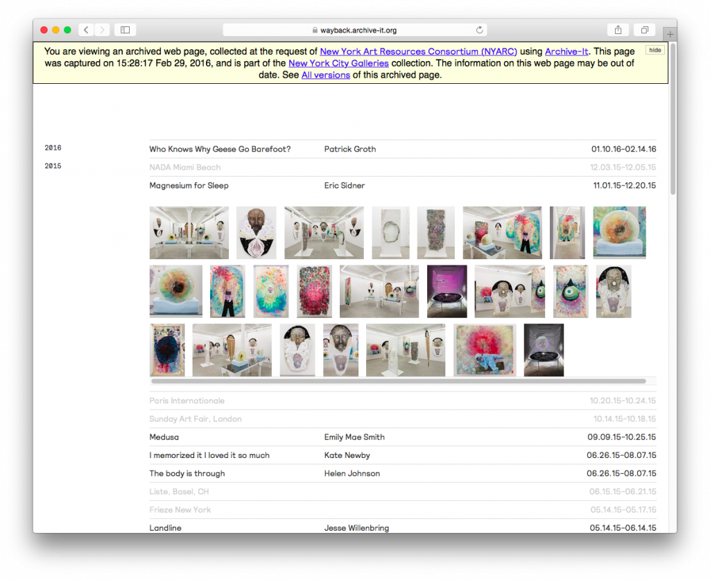 Screencap: Laurel Gitlin Gallery
