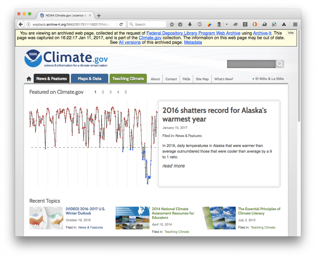 Capture from the Climate.gov web archive