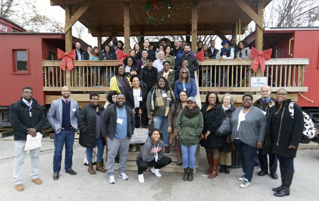 """Digital Blackness in the Archive"" attendees in Ferguson, MO."