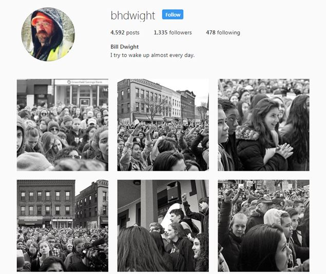 Screenshot of Bill Dwight's Instagram feed