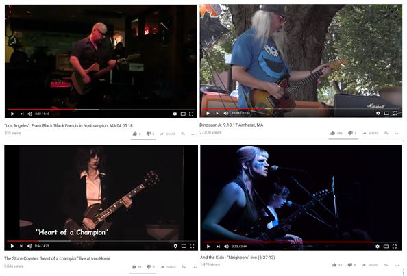 Screenshot of live performances nominated for archiving