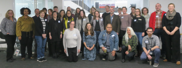 Photo of the Community Webs cohort members at the Columbus Metropolitan Library