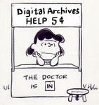Digital archives help desk illustration