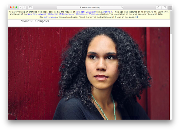 Capture of Jesse Montgomery's Official Website