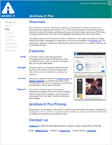Archive-It Pro one-sheet
