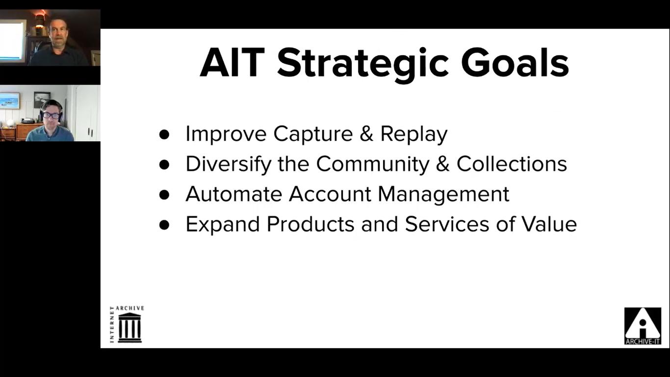 Archive-It's 2021/2022 strategic goals