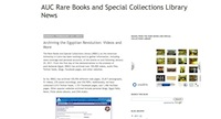 AUC Rare Books and Special Collections Library News